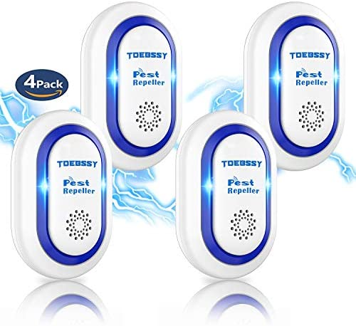TDEBSSY 2021 Ultrasonic Pest Repeller 4 Pack Effective Upgraded Frequency Pest Control Ultrasonic product image
