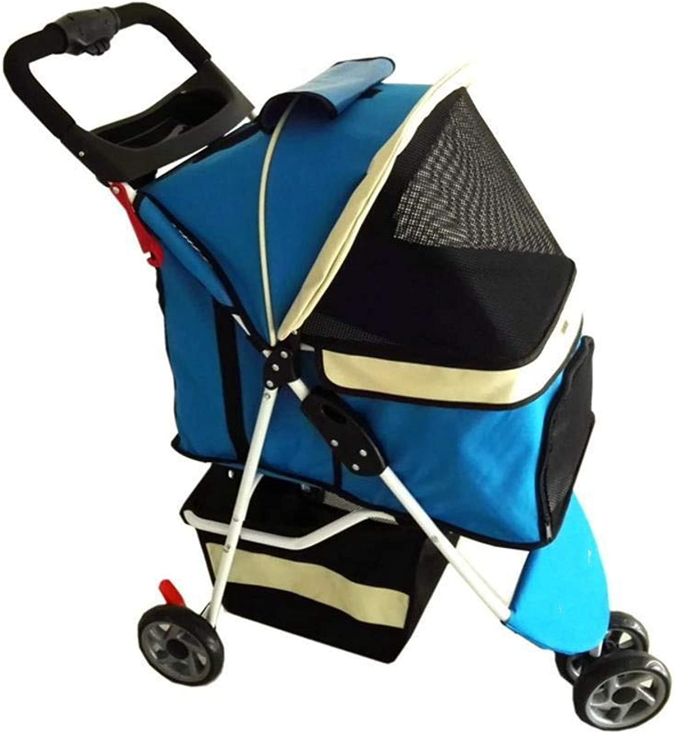 Axiba Pet Stroller Portable folding trolley, tricycle, pet out Bag box