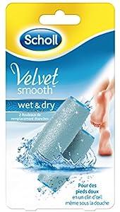 SCHOLL Velvet Smooth Pedi Wet & Dry acoplador de cuerno mp-2395rodillos de repuesto, 2unidades)