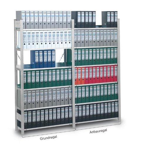 Aktenregal, Stecksystem, einseitige Nutzung, Grundregal 1750x335x810 mm, 4 Zwischen- und 1...