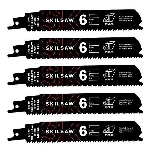 SKILSAW SPT2007-05 6'' 8-10 TPI Reciprocating Saw Blade For Metal - 5 Pack