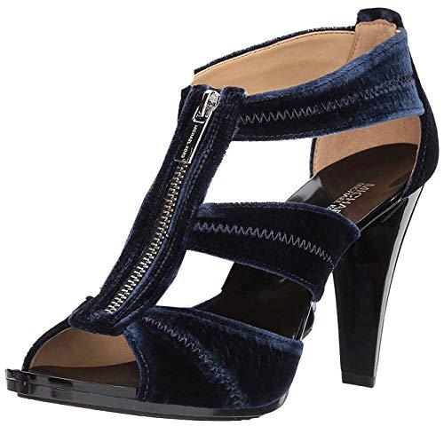 MICHAEL Michael Kors Womens Berkley Leather Open Toe, Admiral Velvet, Size 9.5 [並行輸入品]