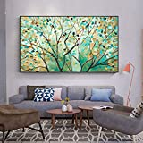 Lienzos Carteles e impresiones Acuarela Árbol grande Arte de la pared Imágenes Imágenes Pintura Sala de estar Decoración del hogar 23.6 'x39.4' (60x100cm) Sin marco
