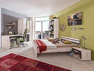 Jugendzimmer Cariba Komplett Verschiedene Ausführungen Kinderzimmer Möbel (Jugendzimmer Cariba 7tlg, Weißeiche)