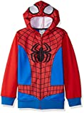 Marvel Big Boys' Spiderman Fleece Zip Costume Hoodie, Red/Blue, X-Small-8