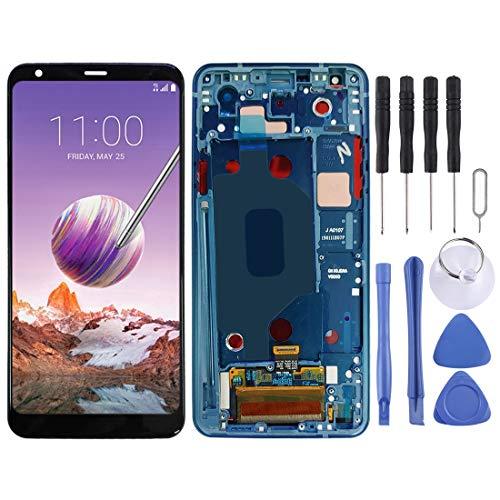 ASAMOAH Pantalla LCD de reemplazo de teléfono Celular Pantalla LCD y Conjunto Completo de digitalizador con Marco para LG Stylo 4 / Q Stylo 4 / Q710 / Q710MS / Q710CS