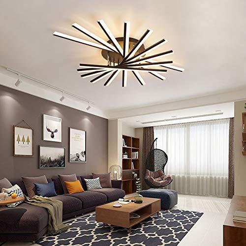 QTWW Lustre de Luxe français de Style Post-Moderne, adapté au Salon et à la Chambre à Coucher, télécommande sans Fil 3 Couleurs, contrôle en continu (9 têtes)
