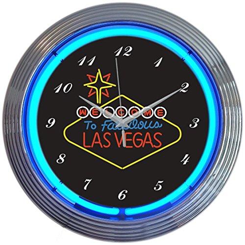 Neonetics Las Vegas Sign Neon Wall Clock, 15-Inch