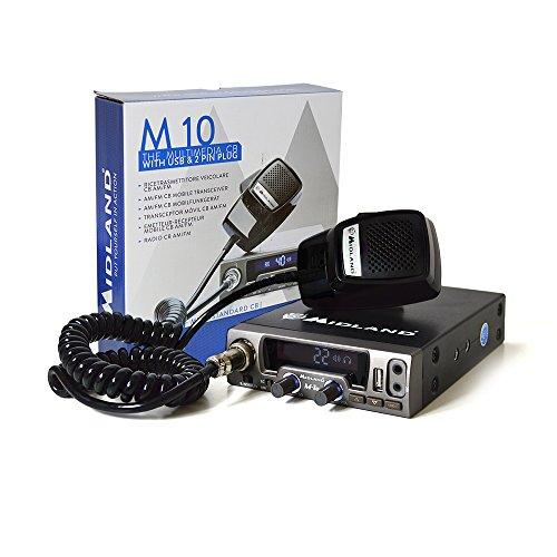 Midland M10 Ricetrasmettitore Radio, Nero