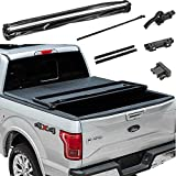 FITDRV Lock & Tri-Fold Soft Tonneau Cover Assembly for 1994-2003 Chevy S10 Extended Cab Fleetside 6 Feet (72in) Bed Models