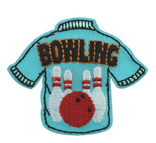 Bowling Bowler Bowl Shirt 2 inch Iron on Patch Ava4360
