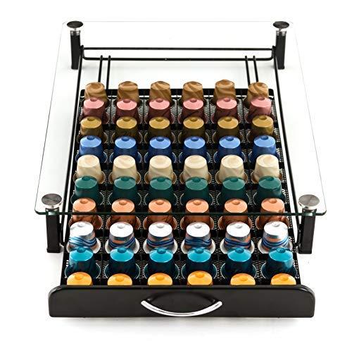 Peak Coffee 60 Nespresso Kaffeekapseln Tablett Schubladenbox Aufbewahrung Kapselständer