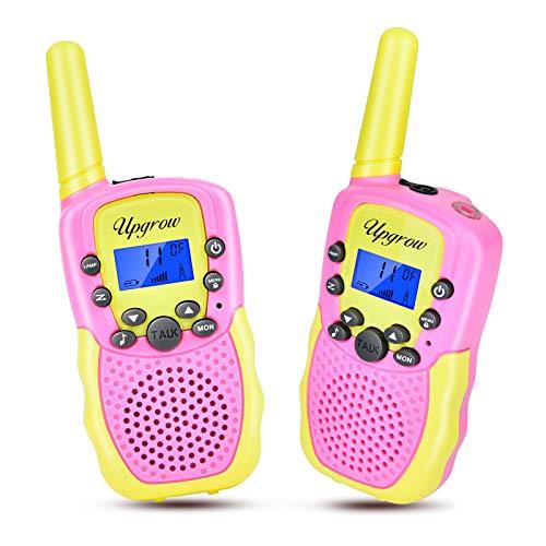 Walkie Talkies für Kinder, Upgrow T-388 Walkie Talkie Kinder Funkgeräte mit Taschenlampe, Spielzeug und Geschenk für Kinder, PMR446 Funkgeräte für Outdoor-Abenteuer, Camping, Wandern, Radfahren
