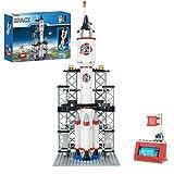 Spaceship Building Set City Space Rocket Ship Toys with Launch Control Center & Mini Astronaut (309PCS)