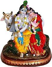 Radha Krishna Cow Gift Statue Idol Showpiece/Height= 5.5 inches-VRINDAVANBAZAAR.COM