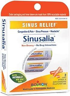 Boiron Sinusalia Sinus Relief Pellets - 2 Tubes/ Pack, 2 Pack