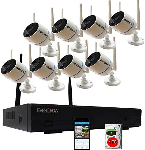 2 Way Audio Long Range Wireless Security Camera System with 1TB Hard Drive 8 Channel NVR 8Pcs product image