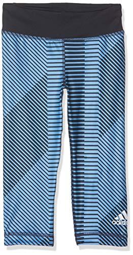 adidas Yg TR BLD 7/8 T Mallas, Niñas, Multicolor (azusue/Tinley/Blanco), 128
