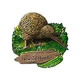 Wedare Aimant de réfrigérateur 3D en forme d'oiseau de Kiwi de Nouvelle-Zélande - Souvenirs touristiques - En résine - Fait à la main - Décoration d'intérieur