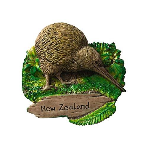 Wedare 3D-Kühlschrankmagnet, Motiv: Kiwi Vogel, Neuseeland, Touristen-Souvenirs, Aufkleber, handgefertigt, Kunstharz, Heimdekoration, Neuseeländischer Kühlschrankmagnet