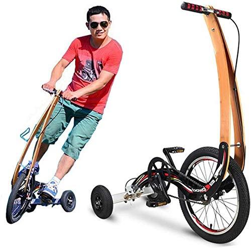 Sin Asiento Ligero Mini Bicicleta Plegable Ciudad Bicicleta para Estudiantes Hombres Mujeres Ejercicio al Aire Libre, Perder Peso kshu