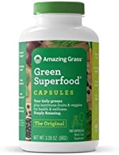 product image for Amazing Grass Green Superfood Capsules: Super Greens with Spirulina, Chlorella, Digestive Enzymes & Probiotics, 150 Capsules