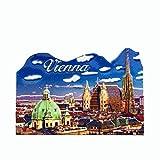 Kühlschrankmagnet, Motiv: Wien, Österreich, Souvenir, Geschenk, Sammlung, Heimküche, Dekoration, Whiteboard, Magnetaufkleber, Wien-Kühlschrankmagnet
