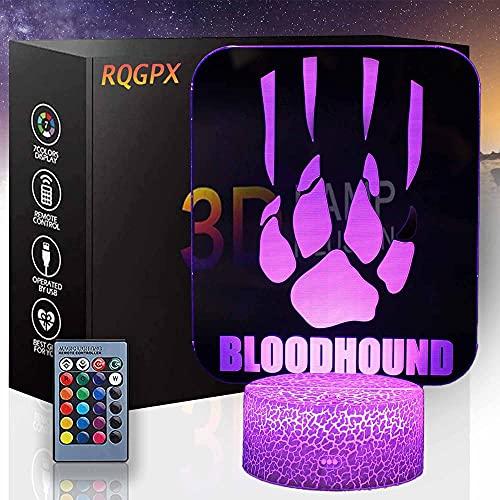 Luz nocturna para niños APEX Legends M 3D Lámpara de ilusión de 16 colores que cambia con control remoto creativo decoración de habitación cumpleaños personalizado para niños adolescentes hombres