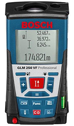 Bosch Professional télémètre laser GLM 250 VF (pour l'extérieur, portée : 0,05 – 250 m, dragonne, 4 piles 1,5 V, housse de protection)