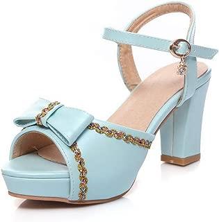 BalaMasa Womens ASL06956 Pu Platform Heels