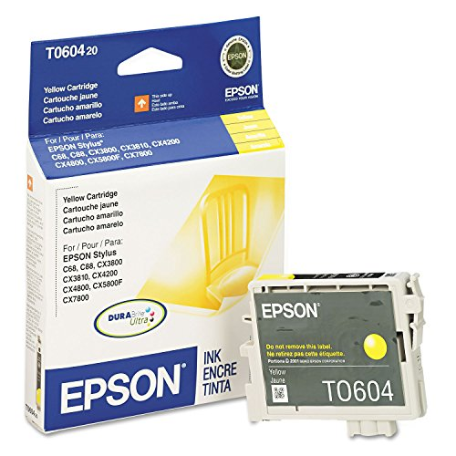 Epson America Inc. Products - Inkjet Cartridge, 400 Page Yield, Yellow Ink - Sold as 1 EA - Ink cartridge is designed for use with Epson Stylus C68, C88, C88+, CX3800, CX3810, CX4200, CX4800, CX5800F and CX7800.