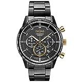 Seiko SSB363 - Reloj de Cuarzo japonés para Hombre, Correa de Acero Inoxidable, Color Negro