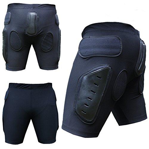 Heezy Beschermingsbroek voor skiën, snowboarden, beschermershorts voor motorcross, BMX, beschermer, korte broek