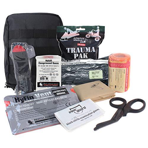 MediTac Kit IFAK Premium Feat. Trauma Pak Garrot Cat HyFin Vent Seal Bandage Israël, Standard