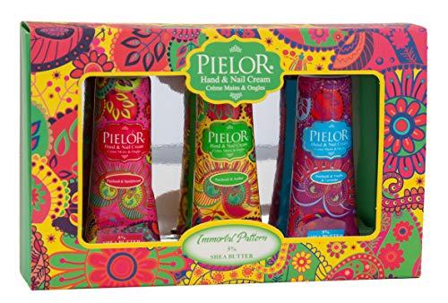 PIELOR Immortal Pattern Hand & Nagelcreme Geschenkset mit Shea Butter 3 x 30 ml