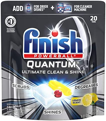 Finish Quantum Ultra Degreaser with Lemon Dishwasher Detergent Tablets 20ct product image