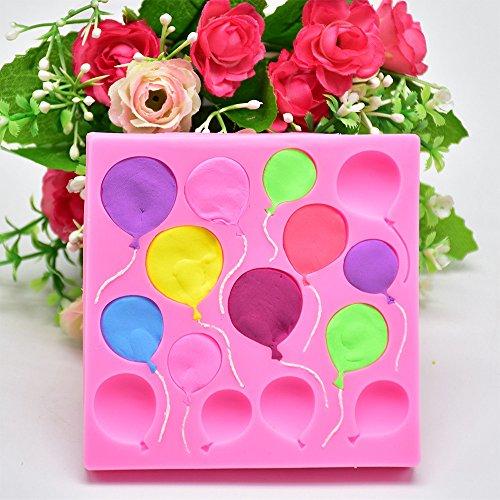 Moent Silikon Luftballons Fondant Kuchen Sugarcraft Schokolade Dekorieren Form Backwerkzeuge, Ballon geformte Schokoladenform