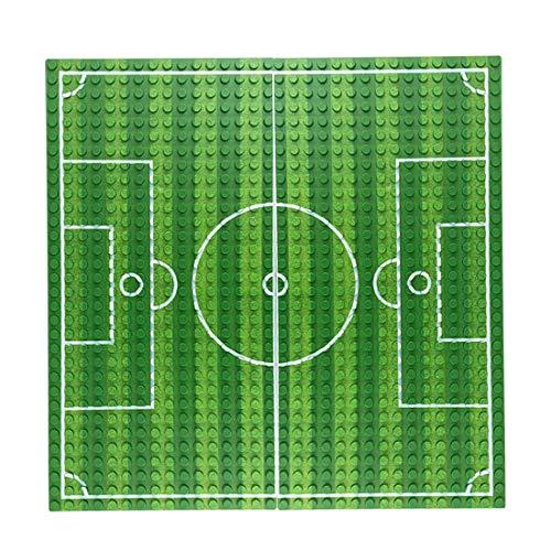 SENG Bauplatten Straße Grün Fußball Platten Bausteine Grundplatte, Kompatibel mit Lego