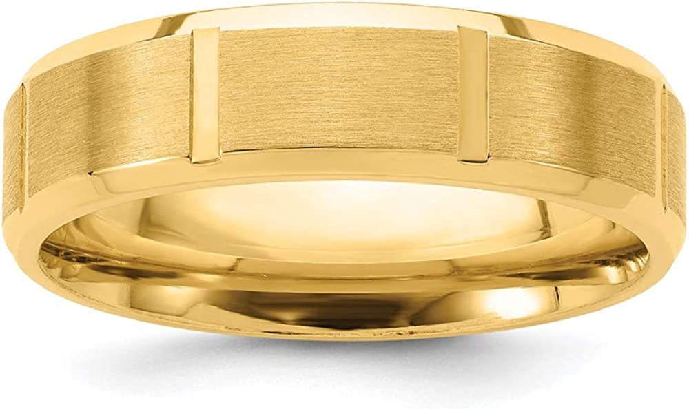 14k Yellow Gold Comfort Fit Brush Wedding Ring Band Size 9.00 Fancy Fine Jewelry For Women Gifts For Her
