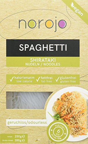 norojo geruchlose Shirataki Nudeln - Spaghetti Art, 6er Pack (6 x 250gr)
