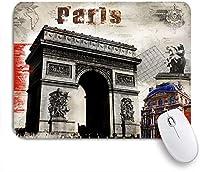 ECOMAOMI 可愛いマウスパッド パリ凱旋門の油絵スタイル 滑り止めゴムバッキングマウスパッドノートブックコンピュータマウスマット