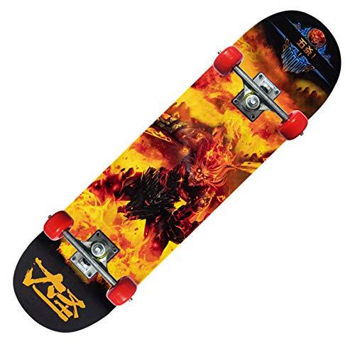 San Qing 31In Skateboard, Niño Doble Rocker Principiantes Skateboard Teens Drift De Alta Velocidad Skateboard De Cuatro Ruedas Regalo Adecuado para Niños Y Niñas,07