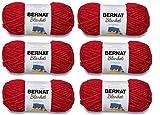 Bernat Blanket Yarn (6-Pack) Super Bulky #6 5.3 oz 108 Yds ea (Race Car Red)