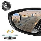 Specchietti per Angolo Morto, Oumers 2 Pezzi Specchietti Ciechi 360 ° vetro HD girevole impermeabile senza telaio Blind spot specchi Punto cieco specchio tondo Universale