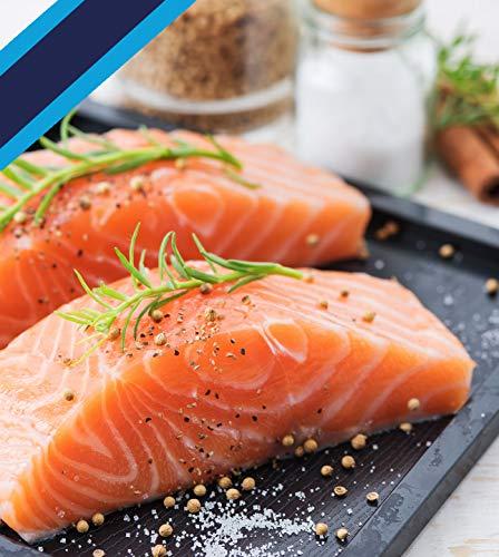 Ocean's Finest Seafood - Atlantic Salmon - Natural Premium Skinless Fillets - 6oz / 8 portions (3 lb)