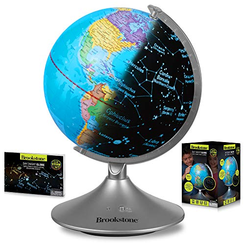 Globe for Kids Learning - Globes of The World with Stand - World Globe, Constellation Globe & Night Light Kids Globe Stem Toy - Perfect Interactive Globe by Brookstone