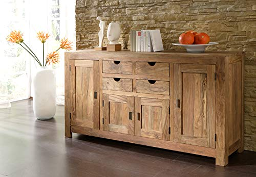 Sideboard Schrank Kommode Flurschrank Flurkommode Yoga Massivholz Sheesham Landhausstil Wolf Möbel Indian Style 180 cm