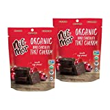 Nib Mor Organic Dark Chocolate Snacking Bites with 72% Cacao - Tart Cherries, 3.26 Ounce (Pack of 2)