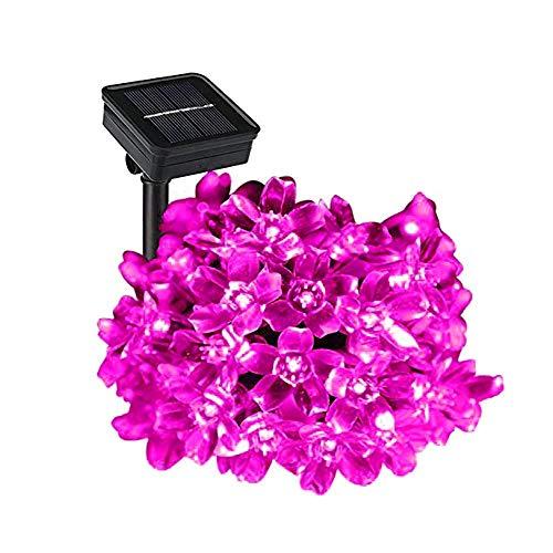 iwish 50 luces LED iwish color rosa, 21 cm, de flores, resistentes al