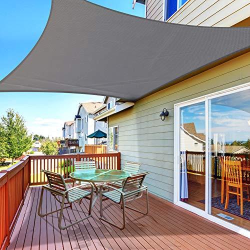 Aytop Sun Sal Shades Rectangular Waterproof, 9.8 x 6.5 ft Sun Shade Sal Rectángulo 160GSM UV Block Sal Canopy para Patio Backyard Lawn Garden Deck Sand, Outdoor Activities